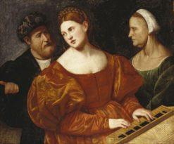 A Concert   Bernardino Licinio   Oil Painting