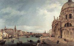 The Grand Canal with S.Maria della Salute towards the Riva degli Schiavoni | Canaletto | Oil Painting