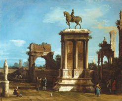 The Colleoni Monument in a Caprice Setting | Canaletto | Oil Painting