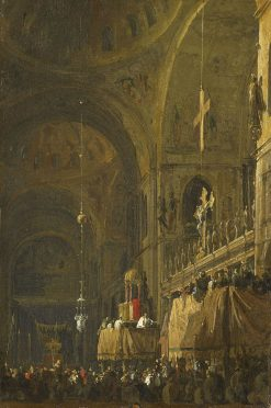 Venice: The Interior of San Marco by Night   Canaletto   Oil Painting