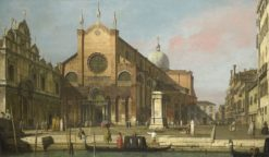 Venice: The Campo SS. Giovanni e Paolo   Canaletto   Oil Painting