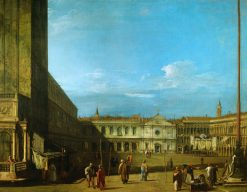 Venice: Piazza San Marco towards S. Geminiano   Canaletto   Oil Painting