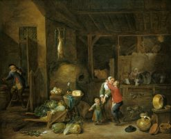 "Interior of a Farmhouse (""The Stolen Kiss"") 