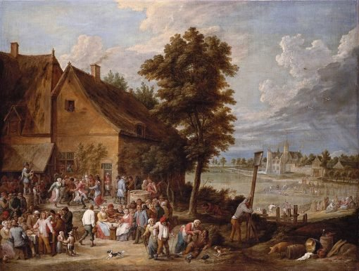 A Feast at Harvest-Time with the House of Drij Toren | David Teniers II | Oil Painting