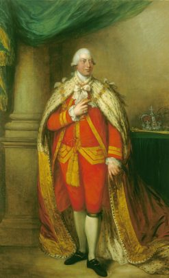 George III (1738-1820)   Gainsborough Dupont   Oil Painting