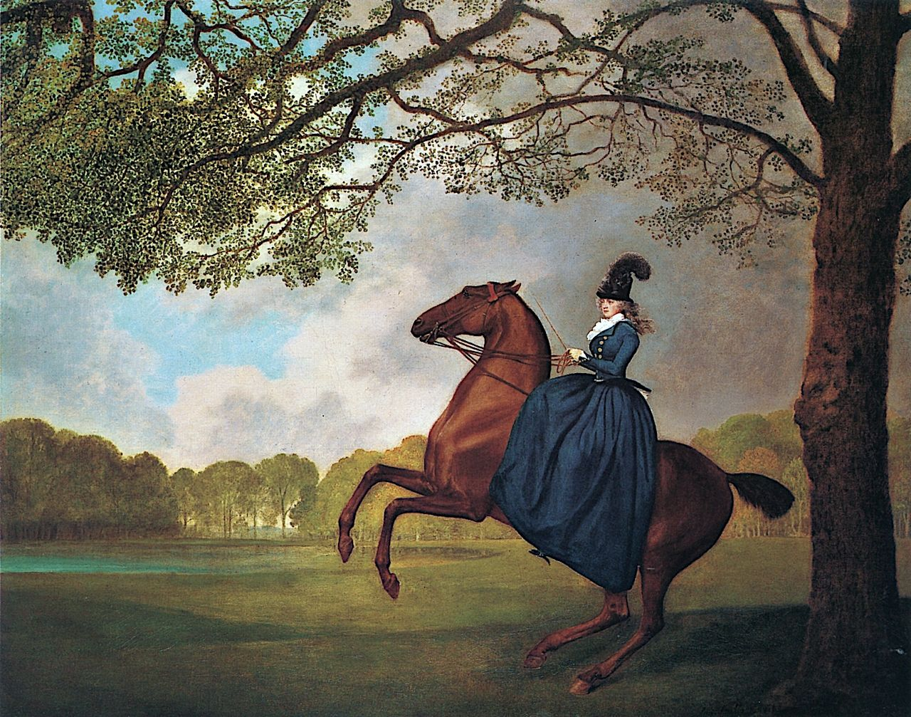 Lady Lade Exercising An Arabian Horse Painting George Stubbs Oil Paintings