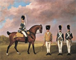 Soldiers of the 10th Light Dragoons | George Stubbs | Oil Painting