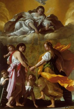 An Allegory of Charity and Justice Reconciled | Giovanni Baglione | Oil Painting