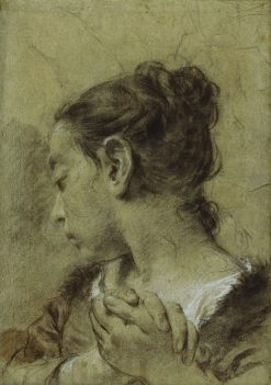 Girl in Contemplation | Giovanni Battista Piazzetta | Oil Painting