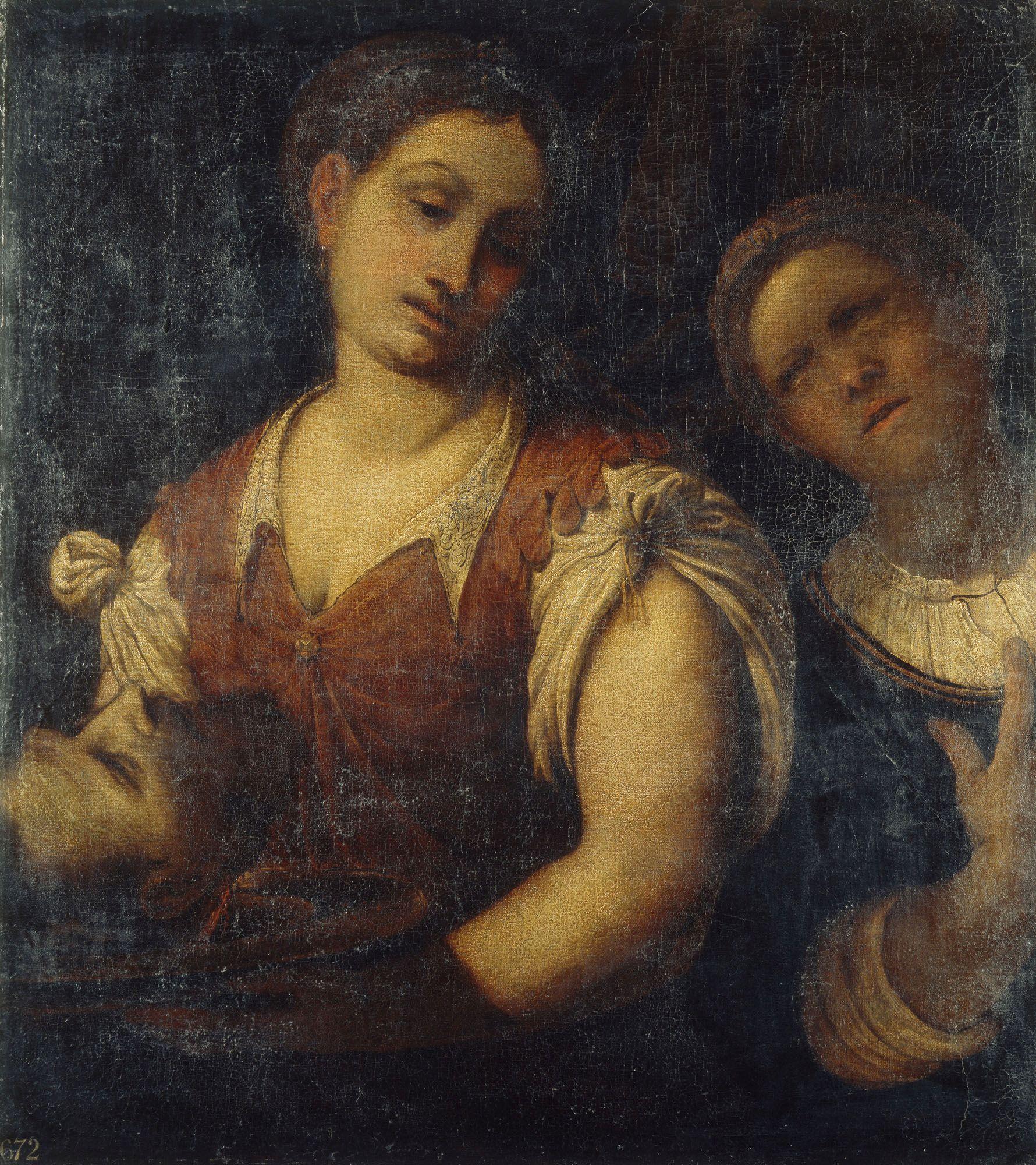 Salome with the Head of John the Baptist | Girolamo Romanino | Oil Painting