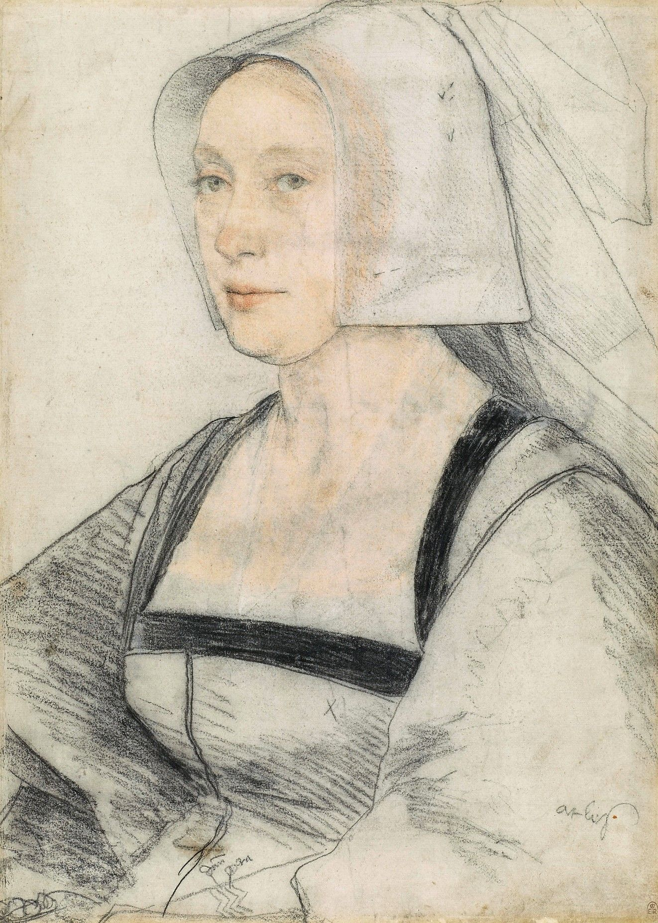 An unidentified woman | Hans Holbein the Younger | Oil Painting