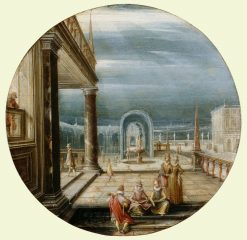 Figures on a Terrace   Hendrick van Steenwijck the Younger   Oil Painting