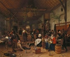 Merrymaking in a Tavern with a Couple Dancing | Jan Havicksz. Steen | Oil Painting