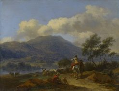 Mountainous Landscape with Two Shepherds
