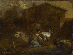 Woman Milking a Goat | Nicolaes Berchem | Oil Painting