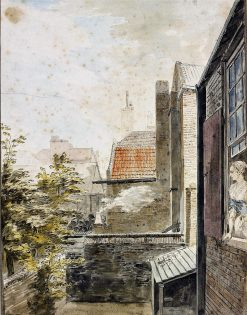 View from the back of Paul Sandby's lodging at Charlton