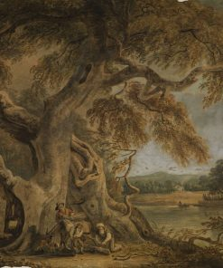 Landscape with an Old Beech Tree on a River Bank | Paul Sandby