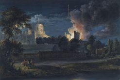 Windsor Castle from Datchet Lane on a Rejoicing Night   Paul Sandby