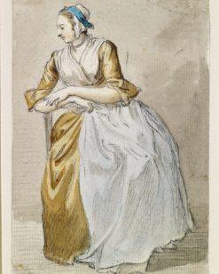 A Seated Maidservant   Paul Sandby