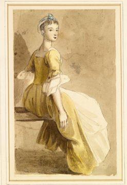 A Seated Girl   Paul Sandby