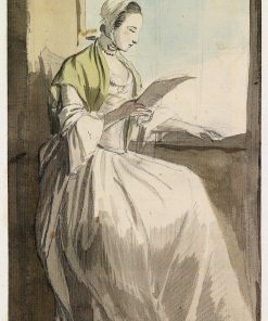 A Lady Reading at a Window | Paul Sandby