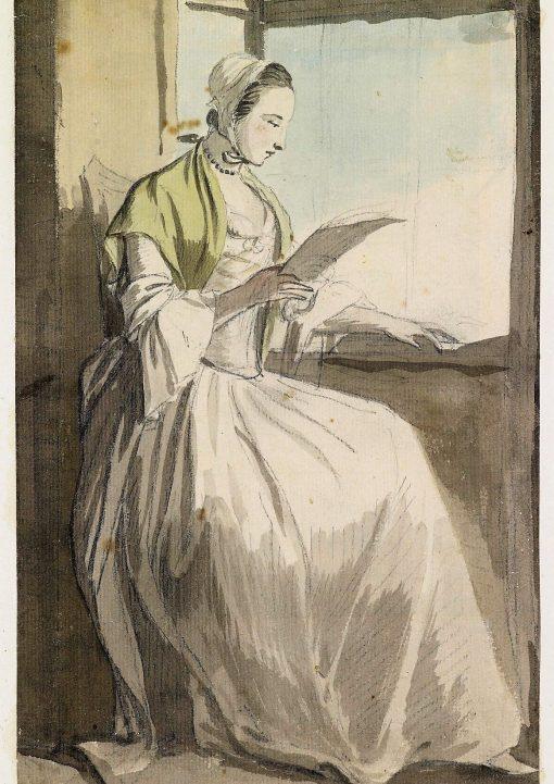 A Lady Reading at a Window | Paul Sandby