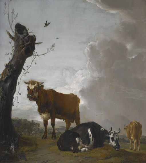 A Young Bull and Two Cows in a Meadow | Paulus Potter | Oil Painting