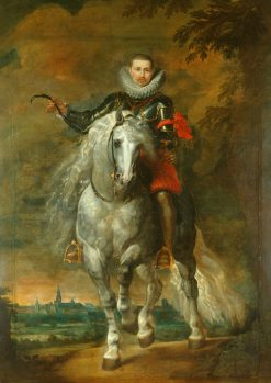 Portrait of Don Rodrigo Calderon on Horseback | Peter Paul Rubens | Oil Painting