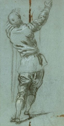 A Man from Behind   Tintoretto   Oil Painting