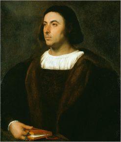 Portrait of Jacopo Sannazaro   Titian   Oil Painting