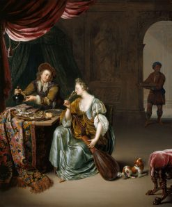 The Neglected Lute | Willem van Mieris | Oil Painting