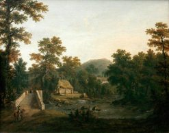 Landscape with River and Bridge | Julius Caesar Ibbetson | Oil Painting