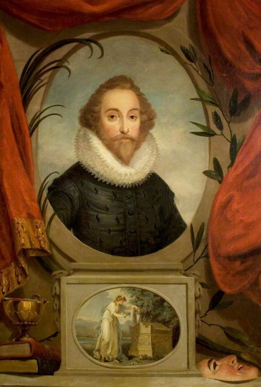 An Ideal Portrait of William Shakespeare | Angelica Kauffmann | Oil Painting