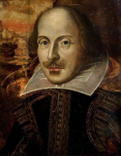 The Flower Portrait of William Shakespeare (1564-1616) | British School th Century   Unknown | Oil Painting