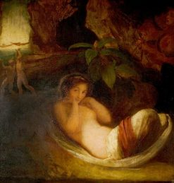 A Midsummer Night's Dream' Act II Scene 2 : Titania Reposing with her Indian Votaries | George Romney | Oil Painting