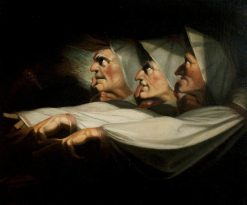 Macbeth' Act I Scene 3: The Weird Sisters | Johann Heinrich Fuseli | Oil Painting