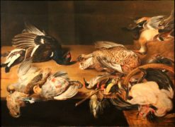 Still Life with Dead Birds | Alexander Adriaenssen | Oil Painting