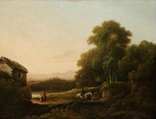 Wooded Landscape with Figures | George Morland | Oil Painting