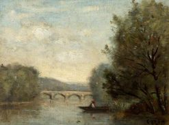 Landscape with a Bridge | Jean Baptiste Camille Corot | Oil Painting