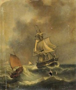 HMS 'Shannon' Lying off Dover | William Adolphus Knell | Oil Painting
