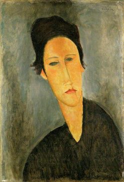 Head of a Woman (Anna Zborowska) | Amedeo Modigliani | Oil Painting