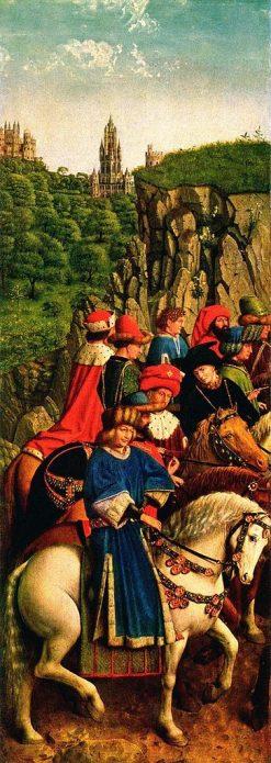 Ghent Altarpiece: Left panel (detail) | Jan van Eyck | Oil Painting