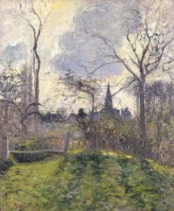 The Bell Tower of Bazincourt | Camille Pissarro | Oil Painting