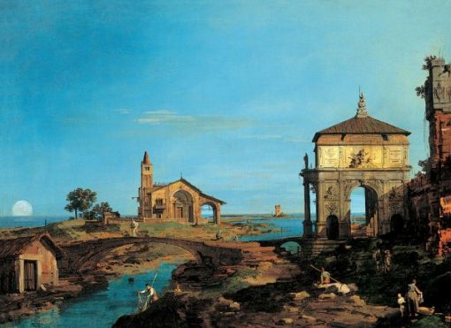 An Island in the Lagoon with a Gateway and a Church | Canaletto | Oil Painting