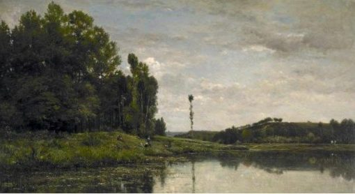 The Banks of the Oise at Auvers   Charles Francois Daubigny   Oil Painting