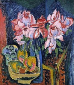 Pink Roses | Ernst Ludwig Kirchner | Oil Painting