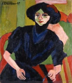 Portrait of a Woman | Ernst Ludwig Kirchner | Oil Painting
