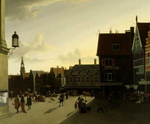 The Dam at Amsterdam | Gerrit Adriaensz.Berckheyde | Oil Painting