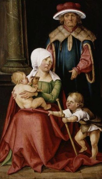 Mary Salome and Zebedee with Their Sons James the Greater and John the Evangelist | Hans Suss von Kulmbach | Oil Painting