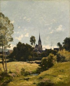 The Village Church | Henri Joseph Harpignies | Oil Painting